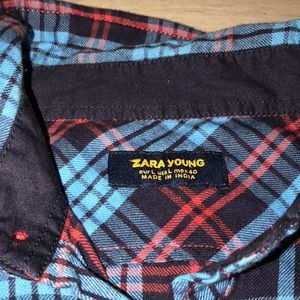 NWOT - Vintage Zara Young Colorful Flannel Shirt